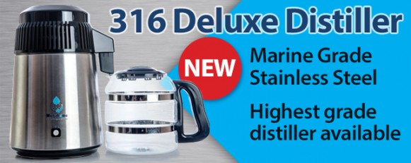 316 Deluxe Water Distiller - glass jug